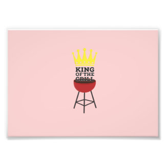 King of the grill photographic print