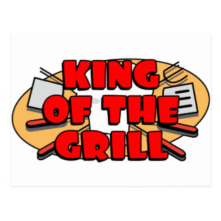 King Of The Grill Post Cards