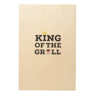 King of the grill wood canvas