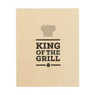King of the grill wood canvases
