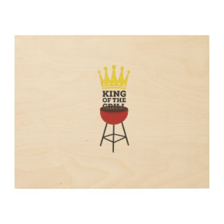 King of the grill wood prints