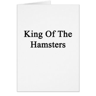 King Of The Hamsters Note Card