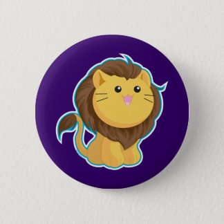 King of the Jungle 6 Cm Round Badge