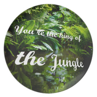 King of the jungle dinner plates
