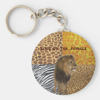 KING OF THE JUNGLE BASIC ROUND BUTTON KEY RING