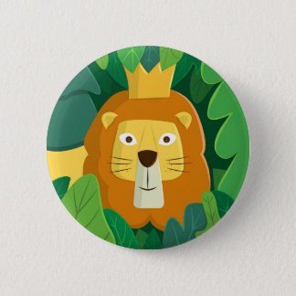 King of the Jungle Round Button