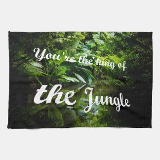 King of the jungle tea towel