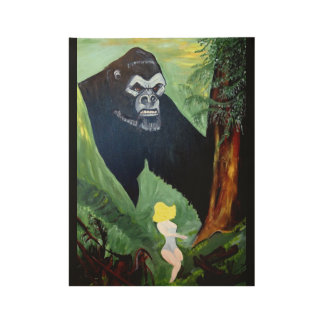 KING OF THE JUNGLE WOOD POSTER