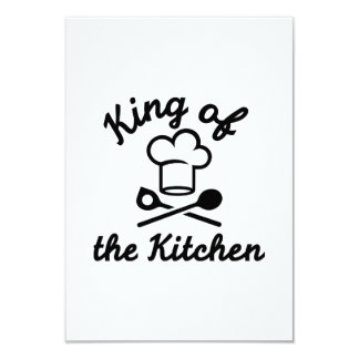 King of the kitchen 9 cm x 13 cm invitation card