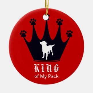 King of the Pack Double-Sided Ceramic Round Christmas Ornament
