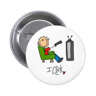 King Of The Remote Gift 6 Cm Round Badge