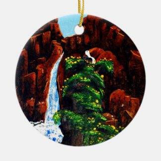 King of the Rock Round Ceramic Decoration