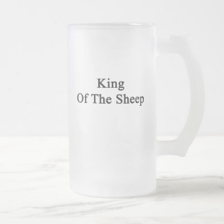 King Of The Sheep Frosted Glass Mug