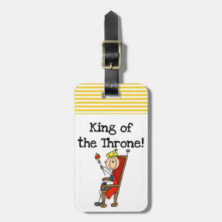 King of the Throne Luggage Tag