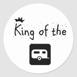 King of the Trailer Park Funny Logo Design Classic Round Sticker