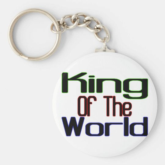 King Of The World Basic Round Button Key Ring