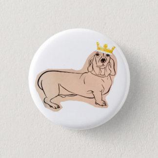 King P 3 Cm Round Badge