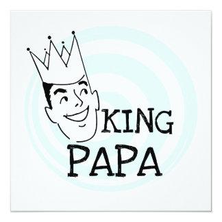 King Papa T-shirts and Gifts Custom Invitations
