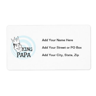 King Papa T-shirts and Gifts Shipping Label