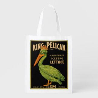 King Pelican Lettuce Produce Label - Grocery Bag
