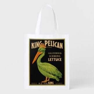 King Pelican Lettuce Produce Label - Grocery Bag