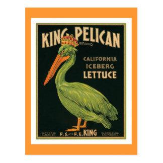 King Pelican Vintage Label Postcards