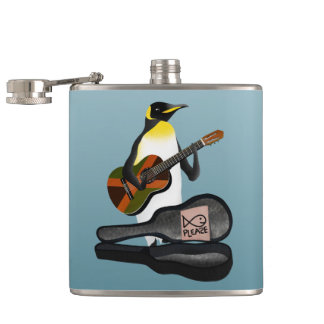 King Penguin Busking Hip Flask