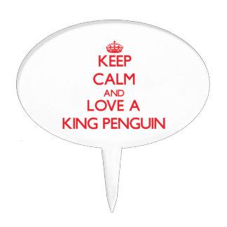 King Penguin Cake Topper