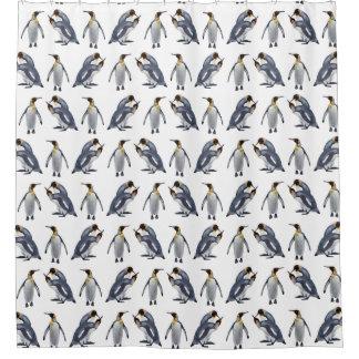 King Penguin Frenzy Shower Curtain (Choose colour)