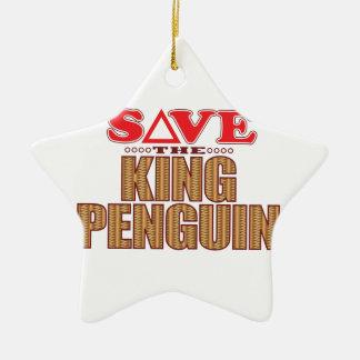 King Penguin Save Christmas Ornament