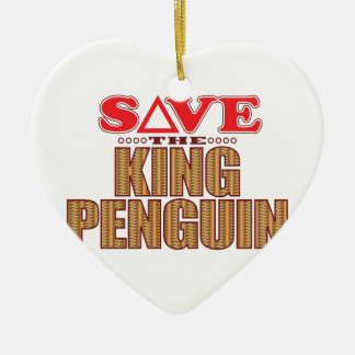 King Penguin Save Christmas Ornament