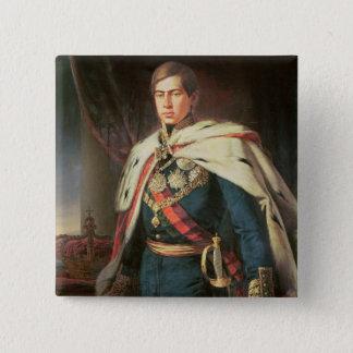 King Peter V  of Portugal 15 Cm Square Badge