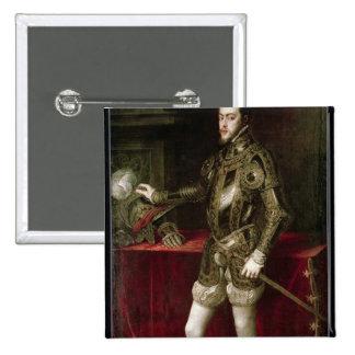 King Philip II  1550 15 Cm Square Badge