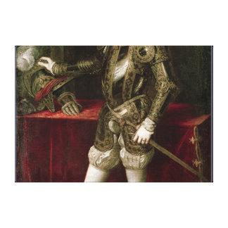 King Philip II  1550 Canvas Print