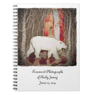 King Polar Bear Carries Princess Spiral Note Books