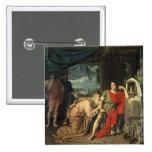 King Priam begging Achilles for return of 15 Cm Square Badge