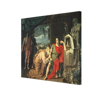 King Priam begging Achilles for return of Stretched Canvas Prints
