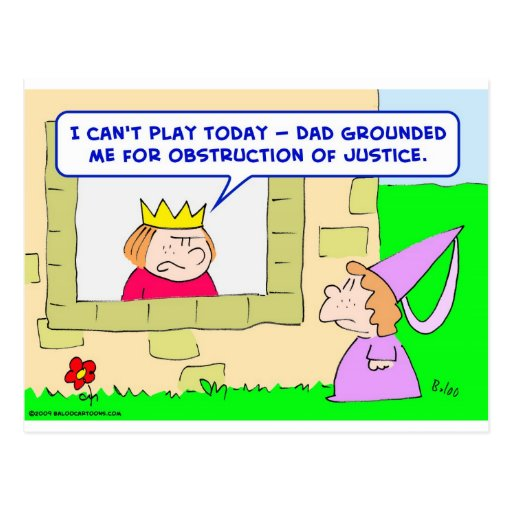 king prince grounded obstruction justice post card