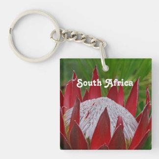 King Protea Single-Sided Square Acrylic Keychain