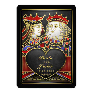 King & Queen Black Gold Vegas Together With Invite