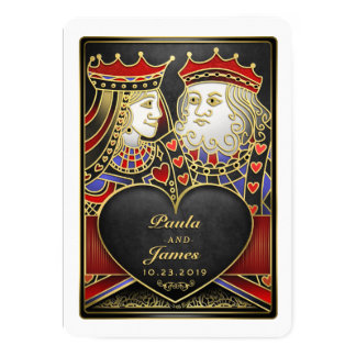 King & Queen Black, Red & Gold Vegas Card