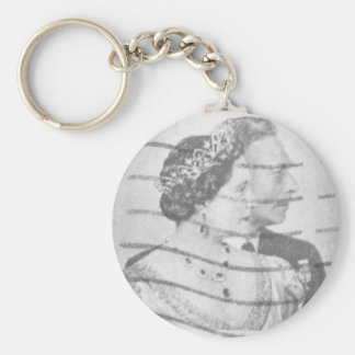 King & Queen of England Basic Round Button Key Ring