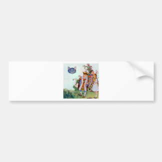 King Queen of Hearts Alice the Cheshire Cat Bumper Stickers