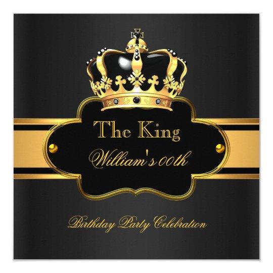King Queen Royal Black Gold Birthday Men or