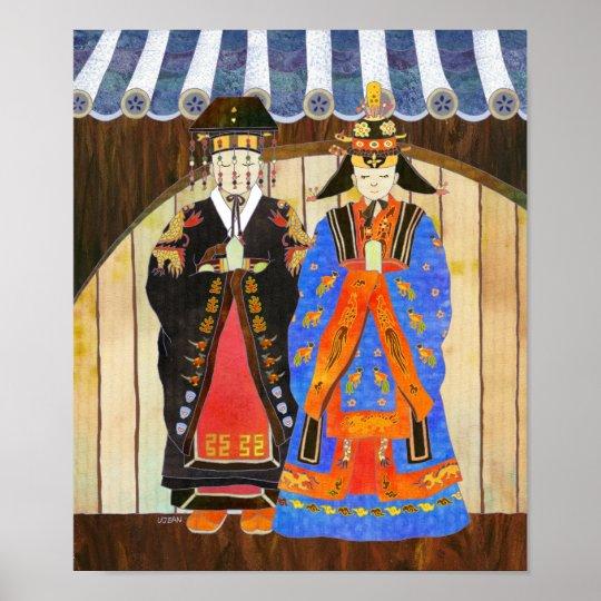 King & Queen's Wedding Poster