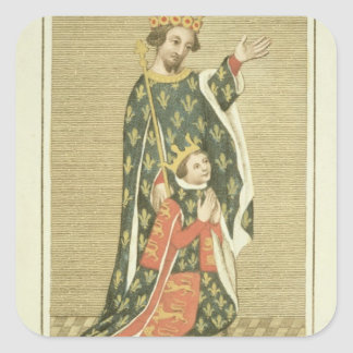 King Richard II (1367-1400) with his father Edward Square Sticker