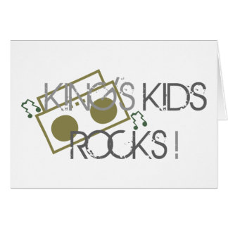 King s Kids Rock Card