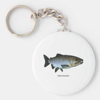 King Salmon Basic Round Button Key Ring