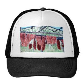 King Salmon Drying on Racks Hats