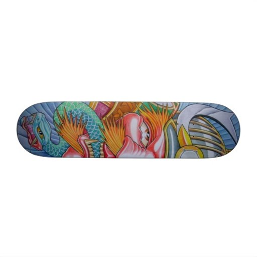 KING SAMURAI 21.3 CM MINI SKATEBOARD DECK
